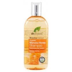 Manuka Honey Shampoo Un champú restaurador y protector formulado con Miel de Manuka Orgánica y Aloe Vera. Este hidratante cha