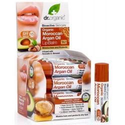 Moroccan Argán Oil Lip Balm Un bálsamo labial a base de aceite de Argán marroquí orgánico con una infusión de aguacate y alme