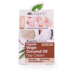 Virgin Coconut Oil Day Cream Crema nutritiva e intensiva con una textura ligera y ultra absorbente. Esta crema de día orgánic