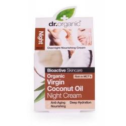 Virgin Coconut Oil Night Cream Crema de rescate hidratante de noche con aceite de coco virgin orgánico. Esta rica y nutritiva