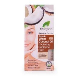 Virgin Coconut Oil Hydrating Radiance Elixir Tratamiento intensivo que repone orgánicamente y rehidrata la piel para una lumi