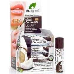 Virgin Coconut Oil Lip Balm Bálsamo labial con base de Aceite de Coco Virgen Orgánico con Manteca de Karité, Aceite de Jojoba