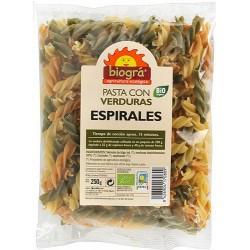 Espirales con verduras  Pueden cocinarse hervidos, acompañados con mantequilla o con salsa de tomate, boloñesa, pesto...  L