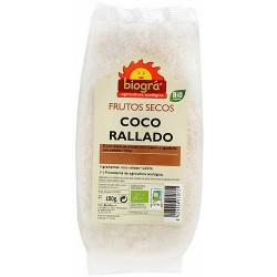 Coco rallado  El de coco rallado y deshidratado sirve de ingrediente para numerosas recetas de repostería, tanto artesanal co