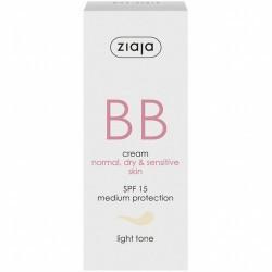 BB cream pieles normales, secas y sensibles SPF15 Tono Claro La línea para piel normal, seca y sensible, que hidrata, regenera