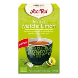 El Té Verde Matcha Limón de YOGI TEA® combina la herbología ayurvédica con la artesanía budista del té verde. Brotes verdes tie