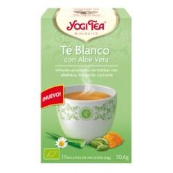 Té Blanco con Aloe Vera  Nuestra piel es el espejo de nuestra alma. Tomando una taza YOGI TEA® Té Blanco con Aloe Vera cuidam