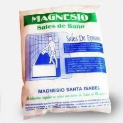 Sales de Epsom – Magnesio Naturales para baño 4,5 Kg.  Estas sales penetran a través de los poros de la piel, siendo la sangr