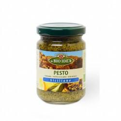 DESCRIPCIÓN DEL PRODUCTO Pesto Siciliano 140g Ingredientes Albahaca * (42,0%), aceite de oliva *, aceite de girasol *, almendr