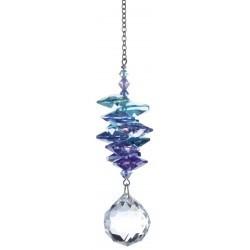 CÓDIGO: CR03 Cristal austriaco, altura de los cristales 7,5cm, Ø de la bola 2cm, cadena de metal Medidas : 12 cm Esta cascad