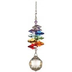 Cristal austriaco, altura de los cristales 7,5cm, Ø de la bola 2cm, cadena de metal Medidas : 12 cm Esa cascada de cristal pe