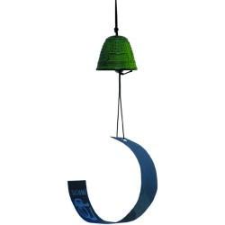 Ø 4,5 cm, hierro colado pintado y veleta de papel Made in : Japan Esta campanita de hierro colado está fabricada de forma art